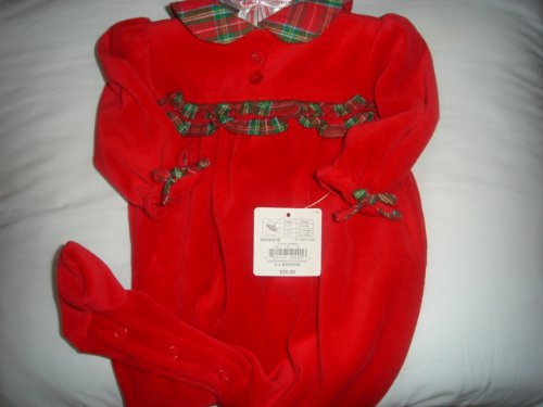 First Moments One Piece Holiday Outfit Size) to 3 Months