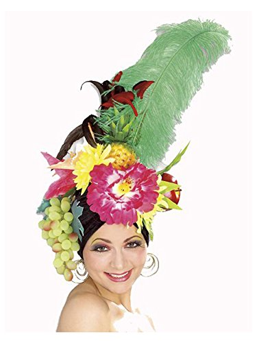 Rubie's Women's Deluxe Tropicalia Costume Fruit Hat, Multi, One Size -