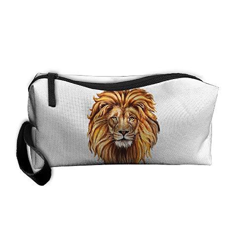 Billfold Pattern - Jessent Coin Pouch Lion Head Pattern Pen Holder Clutch Wristlet Wallets Purse Portable Storage Case Cosmetic Bags Zipper