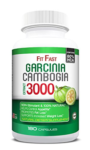 80% HCA - 180 Caps - AS SEEN ON TV Garcinia Cambogia Pure Extract, 3 Months Uninterrupted Supply, Safe & Effective Carb blocker, Appetite Suppressant, Natural Weight Loss Pills, Maximum Strength.
