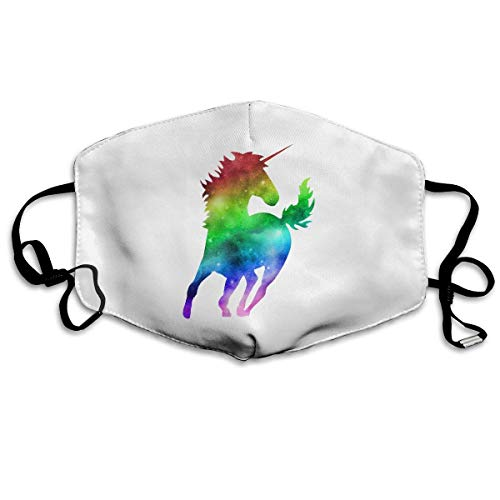 (Fashion Outdoor Mouth Face Mask with Design, Rainbow Galaxy Unicorn Unisex Dust Masks, for Allergens,Exhaust Gas,PM2.5, Running, Cycling, Outdoor Activities Warm Windproof Mask Can Be Washed Reusable)