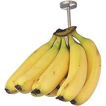 YYST Banana Hanger Banana Hook Banana Organizer (Stainless Steel) Under Cabinet Hook for Bananas or Heavyweight Kitchen Items. Screws Included.