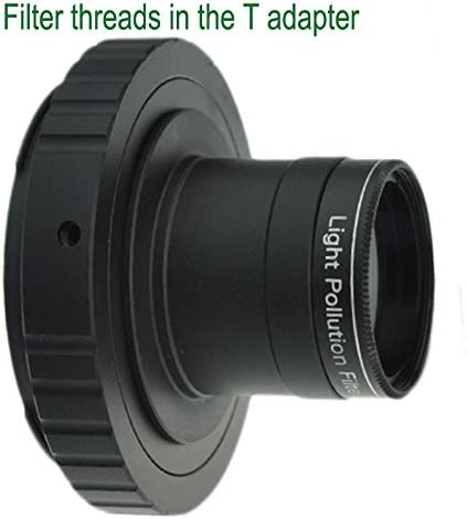 Gosky Metal 1.25'' Telescope Camera T-Adapter and Nikon T2 T-Ring Adapter for Nikon DSLR SLR (Fits Nikon D90, D80, D70, D60, D50, D40x, D40, D800, D700 and All Nikon SLR Cameras