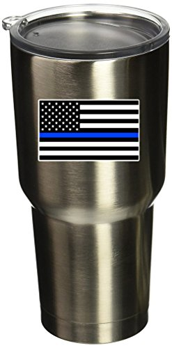 BOLDERGRAPHX 5089 Thin Blue Line Flag SM 4PK 1.5