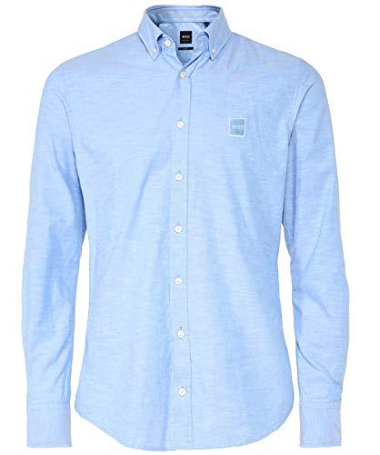 BOSS Orange Men's Slim Fit Mabsoot Oxford Shirt Blue XXL