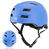 Flybar Dual Certified CPSC Multi Sport Kids and Adult Bike And Skateboard Adjustable Dial Helmet, S/M, True Blue