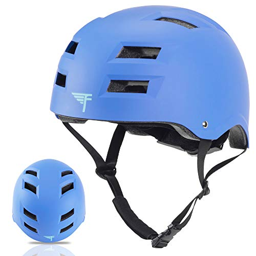 (Flybar Dual Certified CPSC Multi Sport Kids and Adult Bike And Skateboard Adjustable Dial Helmet, S/M, True Blue)