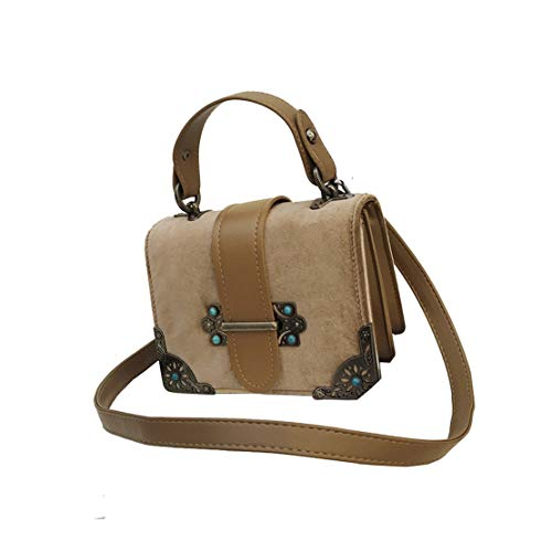 284a0c2c5 Bolsas Hombro Mano Handbag Bolso Morning Bolsos Pequeño Crossbody Moda Niña  Hf Impermeables Marrón Casual Cuero Elegantes Shopper De Chica Bandolera ...