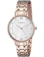 Skagen Womens SKW2323 Anita Rose Gold-Tone Stainless Steel Watch