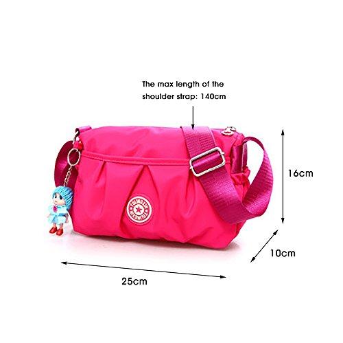 Purse Travel Red Pockets Bags Bag Strap Ladies Small Rose Handbag Multi Shoulder Waterproof Shoulder Cross Adjustable handbags Shoulder Bags Womens body Nylon S1TTqa
