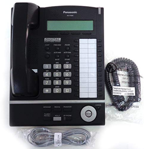 Panasonic KX-T7633 24 Button Backlit Display Speakerphone - Black (Renewed)