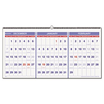 (AT-A-GLANCE Recycled Three-Month Reference Wall Calendar, Large Wall, 2013 (PM14-28))