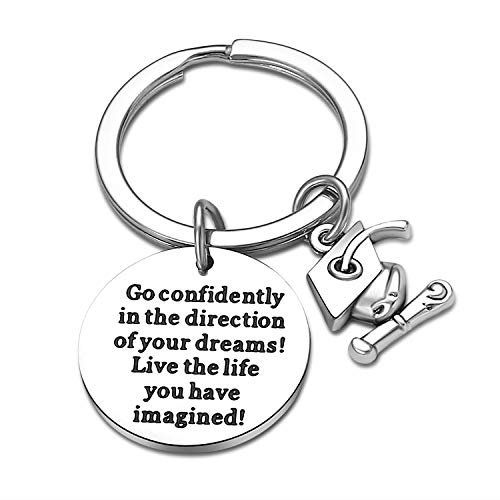 Graduation Gifts for Son Daughter Student, Graduation Keychain Gifts for Him Her, Grad Gifts for Graduates Friends Live The Life You Have Imagined