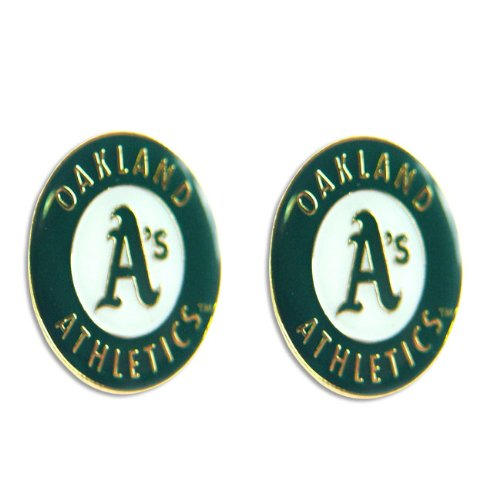 MLB Oakland A's Athletics Sports Team Logo Women Girls Fashion Wear Post Stud Charm Earring -