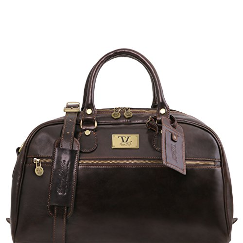 Tuscany Leather TL Voyager Travel leather bag- Small size Dark Brown by Tuscany Leather
