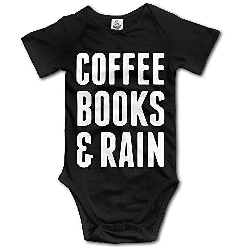 SmallHan Coffee Books & Rain Unisex Particular Boys & Girls Romper Baby Girl Outfits Newborn Black