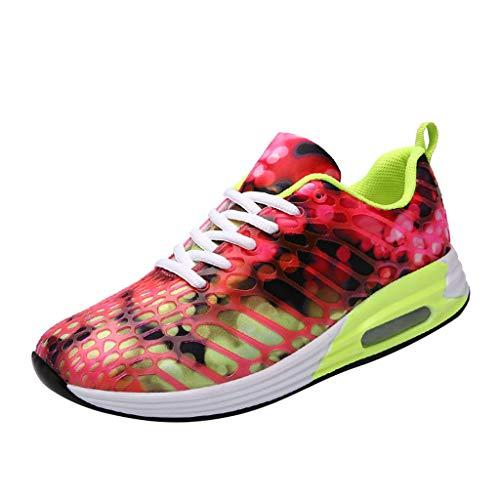 JJHAEVDY Mens Womens Air Cushion Sport Trail Running Shoes Fashion Colorful Sneakers Breathable Comfort Tennis Shoes (Shoe Mens Running Cc Cushion)