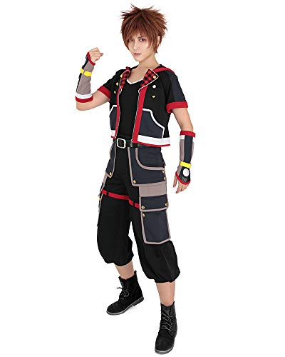 Kingdom Hearts Outfits (Miccostumes Men's Sora Cosplay Costume Outfit Halloween (L))