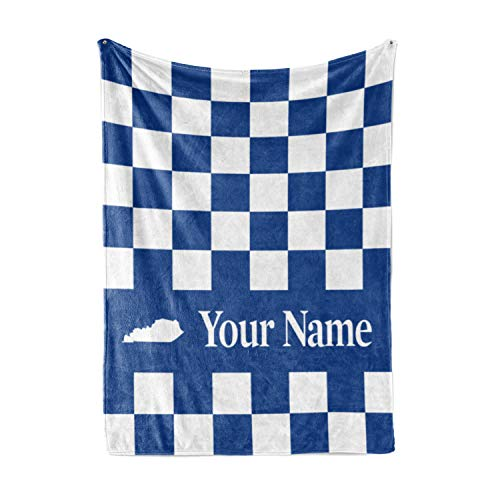 Personalized Corner University of Kentucky Wildcats Themed Custom Fleece Throw Blanket - Mens Womens Kids College Basketball Football Apparel UK (Child ()