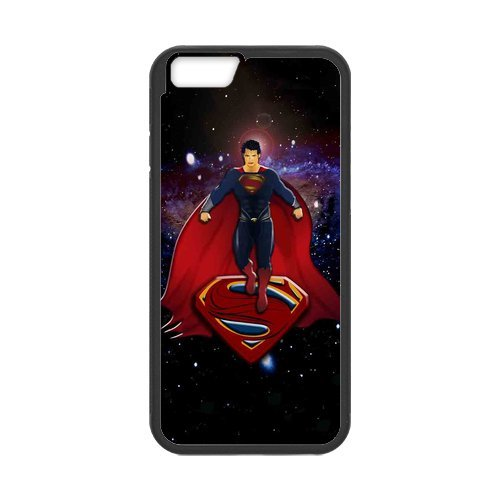 Fayruz- Personalized Protective Hard Textured Rubber Coated Cell Phone Case Cover Compatible with iPhone 6 & iPhone 6S - Superman F-i5G1061