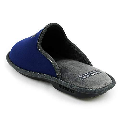 Transpirables Verano Por Azul Suela E De Zapatillas Antideslizante Goma Invierno Hombre Interior Cómodas Casa pantuflas Suave Y Para Slippers Resistentes Estar mujer q6CC8xwE