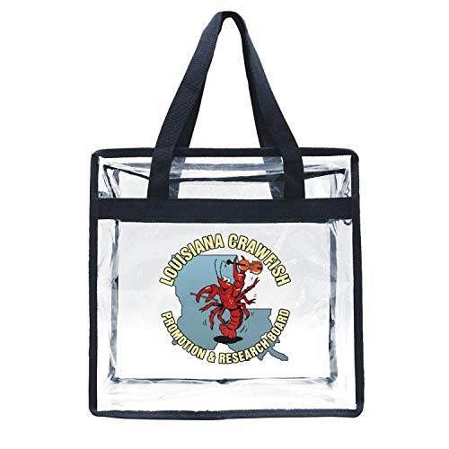 Eoyles gy Clear Bag Stadium Approved 12 X 6 X 12 Crossbody Transparent Purse Shoulder Handbag for Men Women Crawfish Clipart Symbol Louisiana Zippered Security Bag