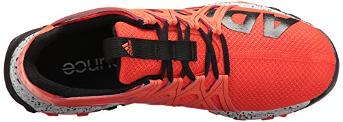 adidas Performance Men's Vigor Bounce m Trail Runner, Energy/Black/White, 11.5 M US