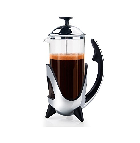 French Press Single Serving Coffee Espresso Maker Stainless Steel Best Camping Coffee Press Pot Heat-Resistant Glass 12 oz(350ML) For Sale