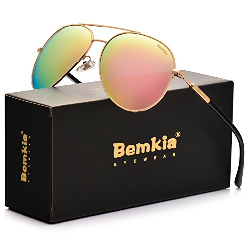 Bemkia Aviator Polarized Sunglasses Men Women 60mm Len Shades Metal Frame UV400 – DiZiSports Store
