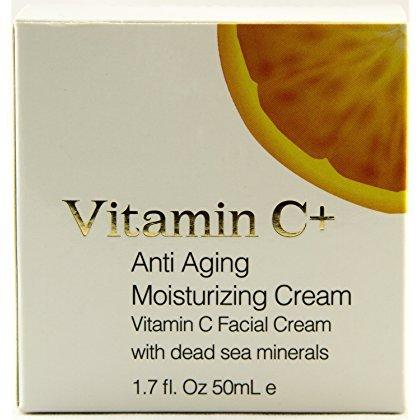 Vitamin C+ Anti Aging Moisturizing Cream with Dead Sea Minerals 1.7 Fluid Ounce