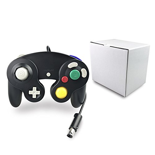 Bowink 1 Pack Classic NGC Wired Controller for Wii Gamecube (Black)