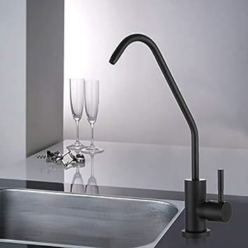 KIODS Grifo Filtro de Agua de Cocina de Acero Inoxidable Grifo de Agua Potable Osmosis inversa Filtro de Agua Potable Grifo de Fregadero Accesorio de Cocina