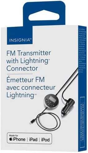 Model Number Insignia FM Transmitter with Lighting Connector NS-MA5FMT2-C