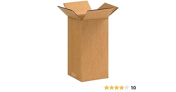 Cardboard Corrugated Boxes 12  x 9  x 6  200#//ECT-32 Pkg Qty 25