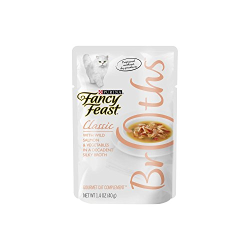 Purina Fancy Feast Broths Classic With Wild Salmon & Vegetables Adult Wet Cat Food - 1.4 oz. Pouch