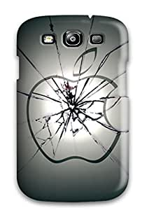 Rugged Skin Case Cover For Galaxy S3- Eco-friendly Packaging(free Apple-themed Ipad)
