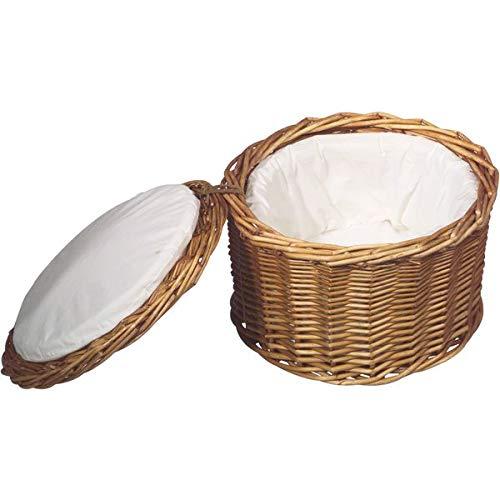 Aps eierkorb, Cestino per il pane, panini cestino, Ø26cm, in vimini NATURALE Stabile, altezza 17cm, per circa 20Uova 30299