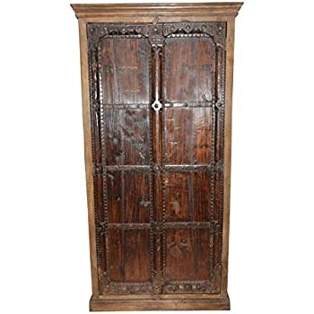 Armoire Storage Warbdrobe Reclaimed Antique Vintage Patina Indian Furniture  Spanish Moroccan Design Interiors
