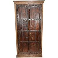 Mogul Interior Armoire Storage Warbdrobe Reclaimed Antique Vintage Patina Indian Furniture Spanish Moroccan Design Interiors