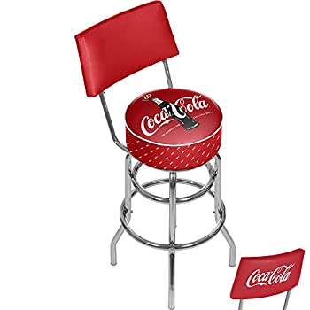 Image of Trademark Gameroom 100th Anniversary of The Coca-Cola Bottle Stool, Black