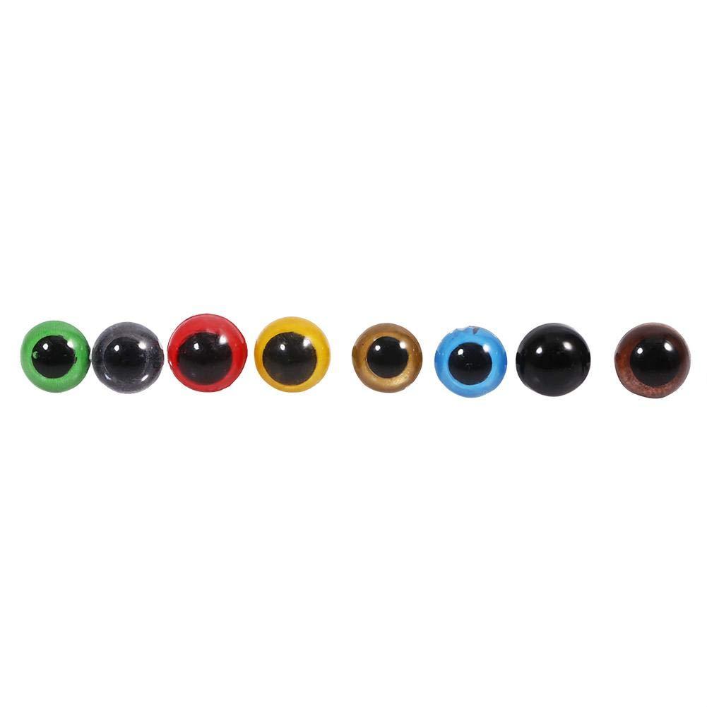 Ojos de seguridad para mu/ñecas Ojos de seguridad redondos de peluche de pl/ástico Ojos surtidos Colores Ojos de seguridad 10mm