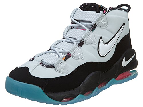 Nike Men's Air Max Uptempo Black/White/Lt Retro/Pink Pow Basketball Shoe 9.5 Men US