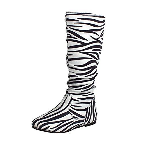 West Blvd - Saigon Slouchy - Stiefeletten mit mittlerem Kalb Zebra Wildleder