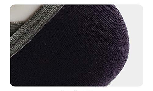 Cabeza Con Cruz Pvc Algodón 10 Antideslizantes size una Forma negro Yoga Peinado color Talla Baile De X Redonda En Pares Shuzhen Calcetines PZ0qzq