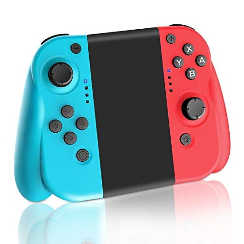 Lrego Nintendo Switch 콘트롤러 joy-con의 대용품 그립 부착/HD진동・쟈이로 탑재 (R)레드/(L)블루 일본어 설명서 부착