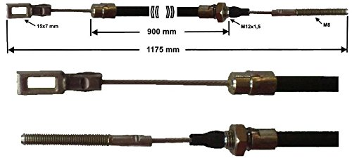 GL 1175 mm C/âble de frein Peitz S234R 900mm R234 76 HL