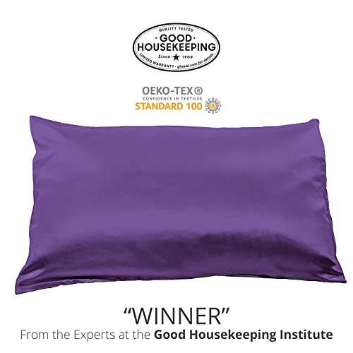 Fishers Finery 25mm 100% Pure Mulberry Silk Pillowcase Good Housekeeping Winner (Purple, ()