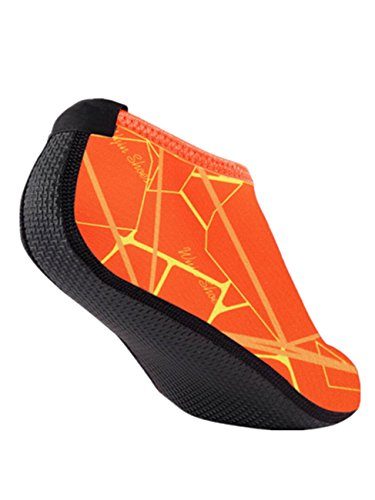 Socks Skin Water Orange Surf Beach Run Voberry Dive Shoes Outdoor Swim Barefoot for Yoga Men Women xFnqwIT