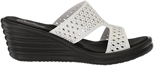 Skechers Mujeres Rumbler Wave-ibiza Summer Slide Sandalia Blanco