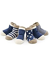 4 PCS Baby boneless 100% cotton socks, unisex